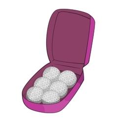 Bag for golf balls icon cartoon style vector image