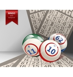 Bingo Background with Balls and Cards vector image