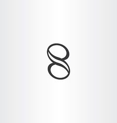 black number eight 8 icon design element vector image