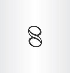 Black number eight 8 icon design element vector