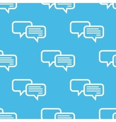 Blue chatting pattern vector image
