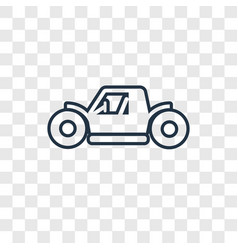 buggy concept linear icon isolated on transparent vector image