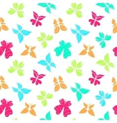 Butterflies Pattern Color Big vector image