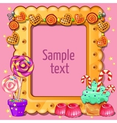 Card with space for dexta and sweets around vector image
