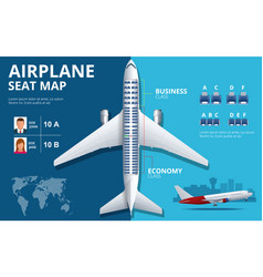 Chart airplane seat plan of aircraft passenger vector
