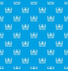 Chest pattern seamless blue vector