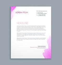 Clean corporate letterhead design vector