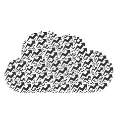 cloud figure of trend icons vector image