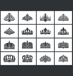 Crowns collection of shapes vector