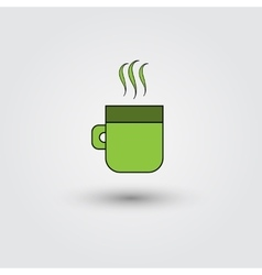 Cup of coffee on a white background vector