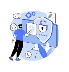 Data privacy abstract concept vector
