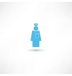Doctor blue icon vector