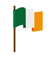Flag irish ireland vector