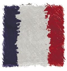 Flag of France handmade square shape vector image