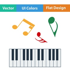 Flat design icon of Piano keyboard vector