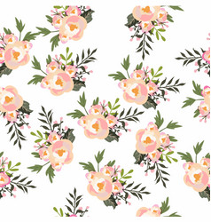 flowers design seamless pattern vector image