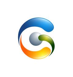 g letter logo design template g letter logo vector image