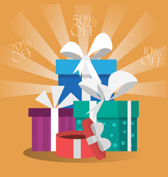 gift boxes card vector image