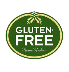 gluten-free natural goodness logo vector image
