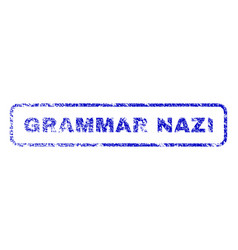 Grammar nazi rubber stamp vector
