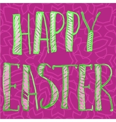 Happy Easter Letters Print vector image
