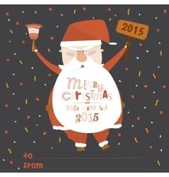 Happy New Year card with funny Santa vector
