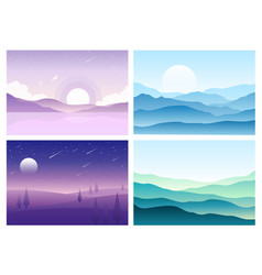 hills and mountains vector image