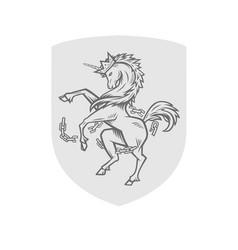 image heraldic unicorn vector image