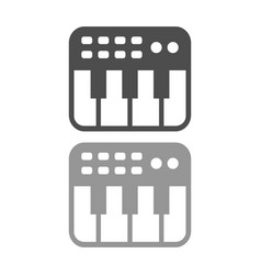 Keyboard midi controller simple icon design vector