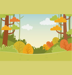 Landscape vegetation plants leaves trees nature vector