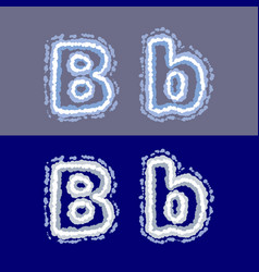 letter b on grey and blue background vector image