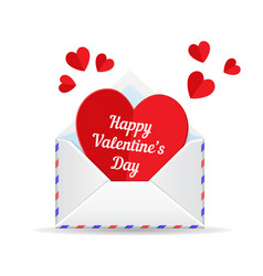 love mail valentine heart vector image