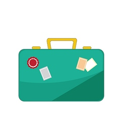 luggage icon on white background vector image