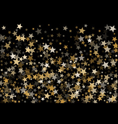 magic gold star background vector image
