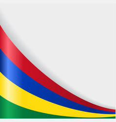 Mauritius flag background vector