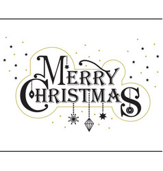 Merry christmas stylized message banner with stars vector