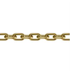 Metal golden chain 3d vector