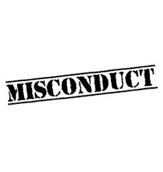 Misconduct typographic stamp vector