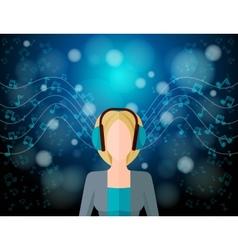 Music Listening Concept vector