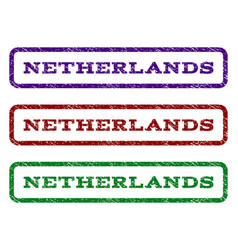 Netherlands watermark stamp vector