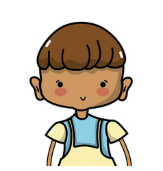 nice boy with clothes and hairstyle design vector image