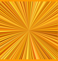 orange explosion background from radial stripes vector image