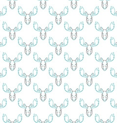 Pattern background with a deer Head pattern elk vector image
