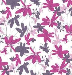 Pink Flowers Pattern vector image