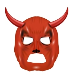 Red Horn Mask Isolated on White vector
