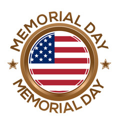 Round banner for memorial day vector