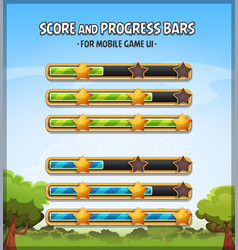 score and progress bars for game ui vector image