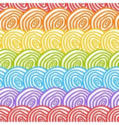 Seamless rainbow doodle background vector