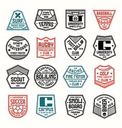 Set sports badges vector