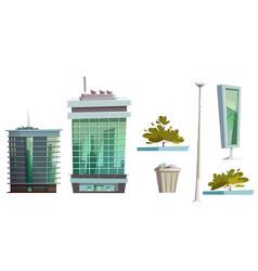 skyscraper buildings modern house architecture set vector image